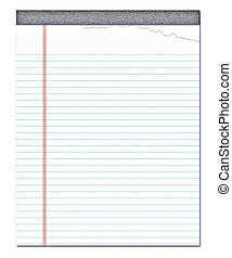 notepad - nice image of a white notepad with a page torn off