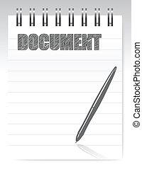 notepad, documento