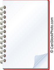 notepad  - vector illustration of notepad