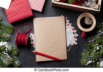 Notepad for christmas letter