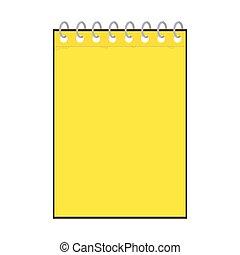 notepad, gele, pictogram