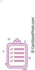 Notepad icon design vector