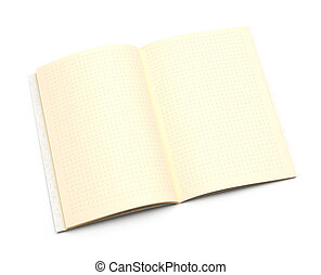 notepad isolated on a white background