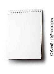 Notepad isolated on white