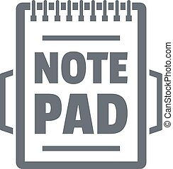 Notepad logo, vintage style