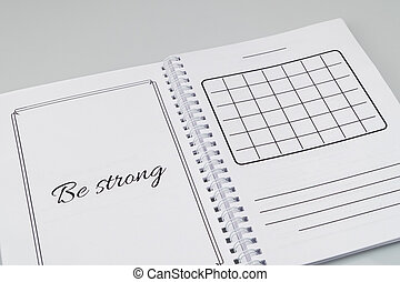 notepad on a white background