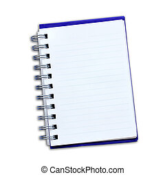 Notepad on a white background.
