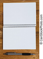 Notepad on the table