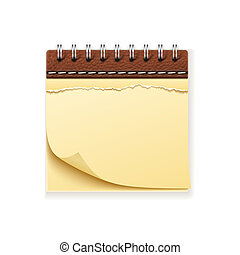 Notepad - Realistic high detailed vector illustration of...