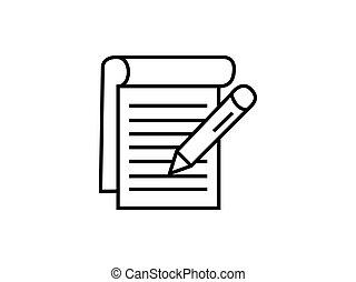 Notepad reminder symbol illustration vector isolated on white background.