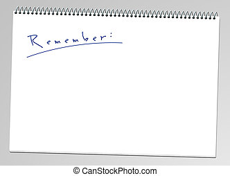 notepad - A illustration of a remember note pad