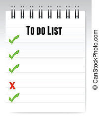 Notepad to do list illustration