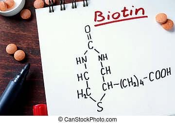 Notepad with biotin