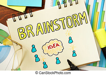 Notepad with brainstorm.