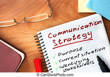 Notepad with Communication strategy