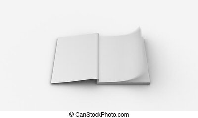 Notepad with flipping pages - no co