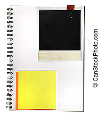 Notepad With Memo and Camera Frame