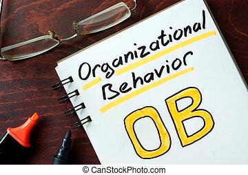 Organizational behavior - Notepad with Organizational ...