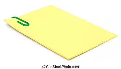 Notepad with paper clip