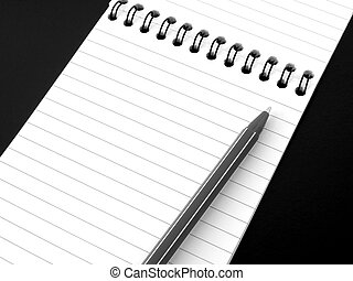 notepad with pen 1