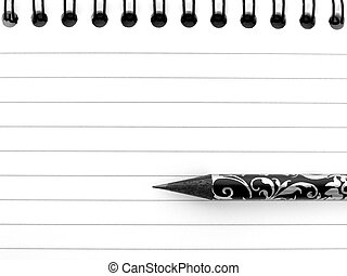 notepad with pencil 1