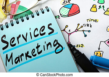 Notepad with services marketing