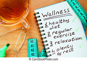 Notepad with Wellness