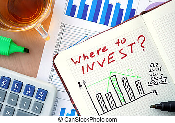 Notepad with where to invest