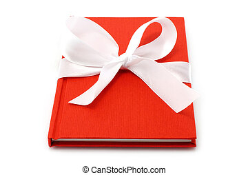 Notepad with white bow