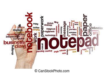 Notepad word cloud