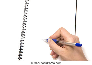 Notepad Writing - Blank Notepad. Ready for your message.