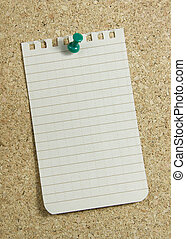 notepaper on corkboard