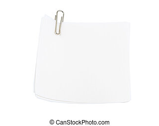 Notepaper with paper clip