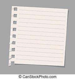 noter papier, feuille