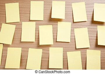 noter papier, jaune