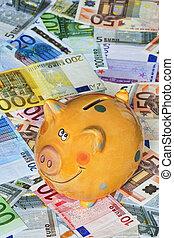 noteringen, bank, euro
