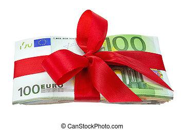 noteringen, bukett, euro, gåva bocka