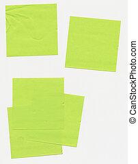 noteringen, -, den, taped, papper, post