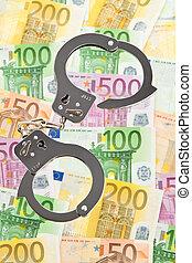 noteringen, handklovar, bank, euro