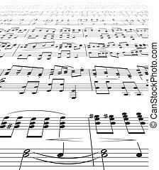 noteringen, musik, struktur