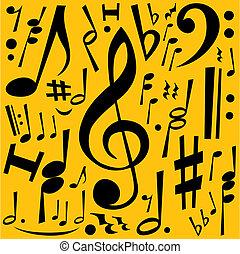 noteringen, musik