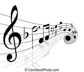 noteringen, musikalisk