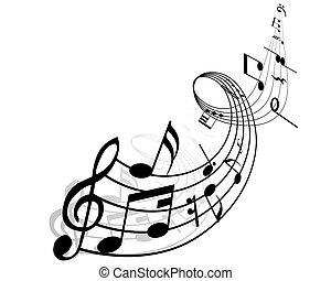 notes, музыкальный