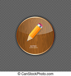 Notes  application icons vector illustration