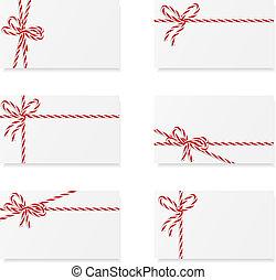 notes, arcs, carte, cadeau