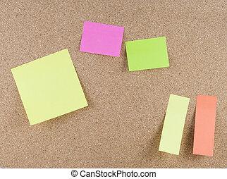 notes, coloré, collant