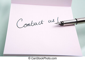 """notes, """"contact, us"""""""