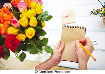 Notes in notepad
