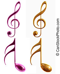 notes, musical