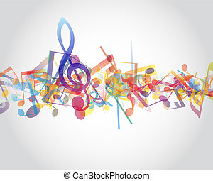 notes musicales, multicolour